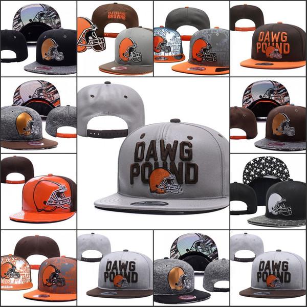 2019 Cleveland Ayarlanabilir Şapka Browns Nakış Takımı Logosu Snapback Tüm Takım Wholeasle Örgü Kasketleri Bir Boyut Caps