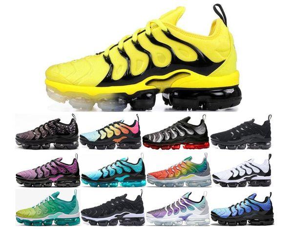 arriving available top design Großhandel Nike Air Max TN 2019 Plus Vapormax Tn Rainbow Laufschuhe Herren  Bumblebee Be True Grape Triple Black Designer Damen Sherbet Team Rot ...