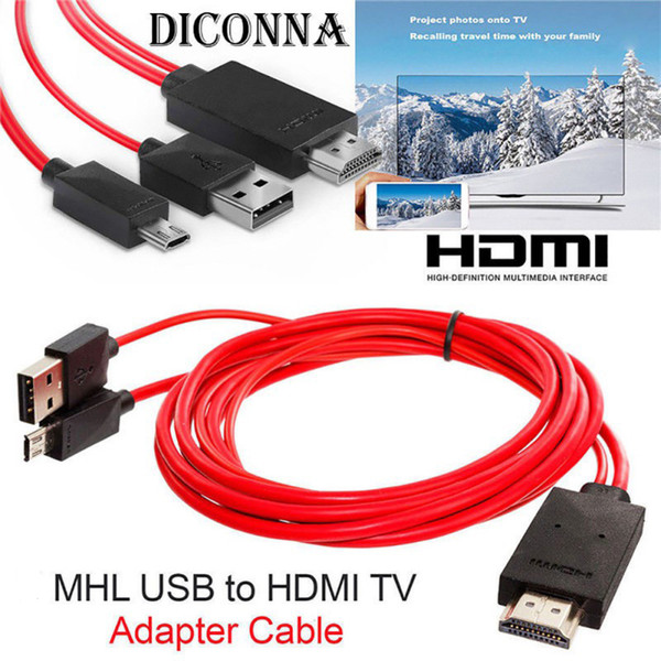 MHL to HDMI Adapter Micro USB to HDMI 1080P HD TV Cable Adapters for Samsung S3 S4 S5 note2 3 4 Android Phone 11PIN Dropshipping