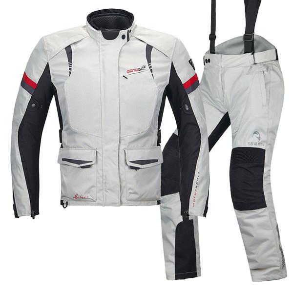 Kadının Motosiklet ceketler moto pantolon Su geçirmez Oxford Giyim koruyucu dişli pedleri Motokros Yarışı forması Dirt Bike takım elbise