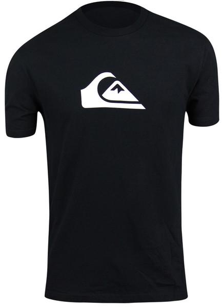 Quiksilver Everyday MW Logo T-Shirt (Black/White )Funny free shipping Unisex Casual Tshirt