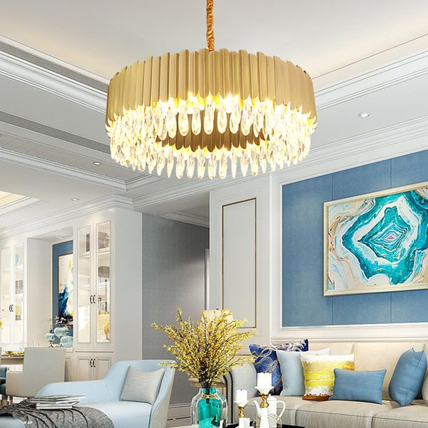 New Design Luxury K9 Crystal Chandelier Lighting Fixtures Modern Gold  Chandeliers Led Lights Living Room Bedroom Dinning Room Pendant Lamps  Antler ...