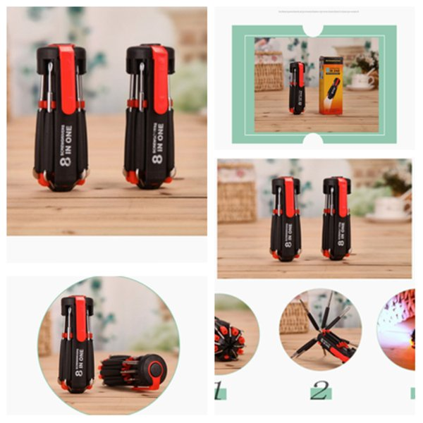 Newes Multi-function screwdrivers flashlights LED strong light flashlight tool flashlight Hand Tools tool fashion outdoor flashlight T2I5160