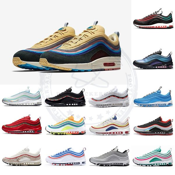 top popular Sean Wotherspoon 2019 Mens Running Shoes Neon Seoul South Beach Red Leopard Throwback Future Womens Trainers Designer Sports Sneakers 36-46 2019