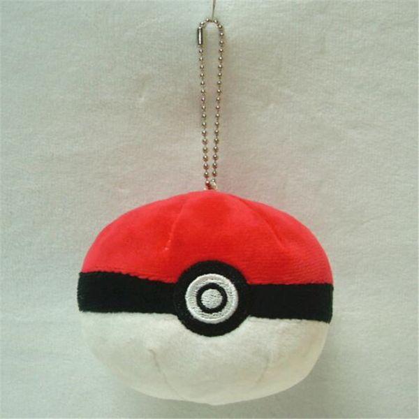Pokemon della palla 8cm della palla rossa della bambola di Keychain del pendente del giocattolo molle della peluche per i bambini DHL libera