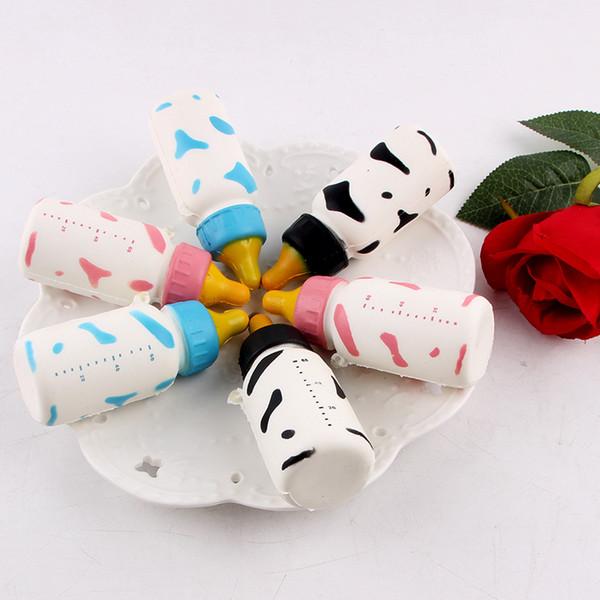 New Squishy PU garrafa de leite macia personalidade criativo descompressão respiradouro brinquedo lento rebote saco do telefone móvel pingente copo de leite