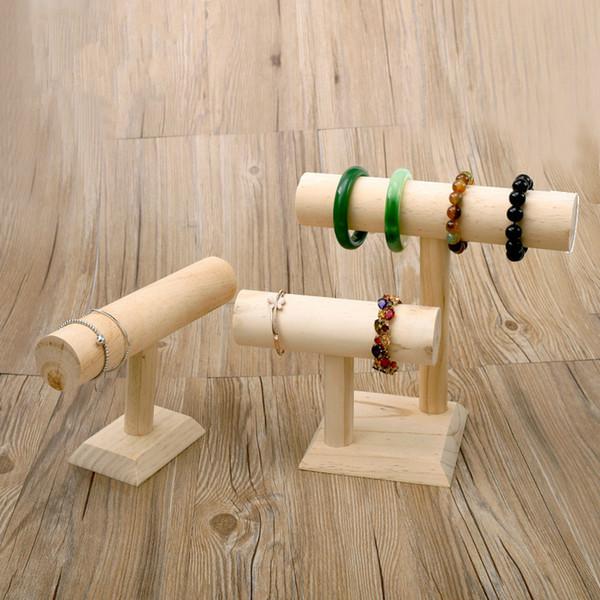[DDisplay]Creative Solid Wood Watch Display Nature Wooden Bracelets Window Display Jewelry Rack Solid Wood Bangle Storage Stand