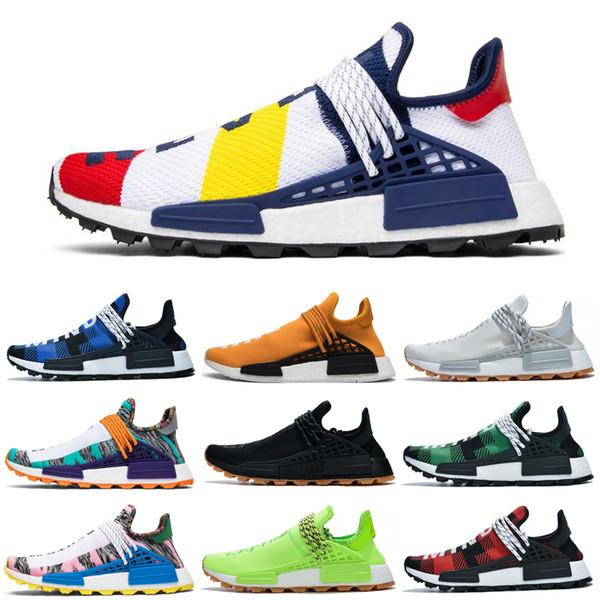 2020 Yeni NMD Koşu Ayakkabıları İnsan Yarışı Pharrell Hu Trail PW Digijack Paketi BBC Nerd ÇIN ÖZEL Kadın Erkek Eğitmenler Spor Sneakers 36-47