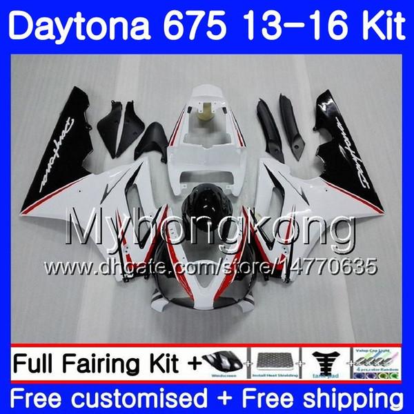 Body white black hot For Triumph Daytona-675 Daytona 675 13 14 15 16 Bodywork 328HM.12 Daytona675 Daytona 675 2013 2014 20 15 2016 Fairings