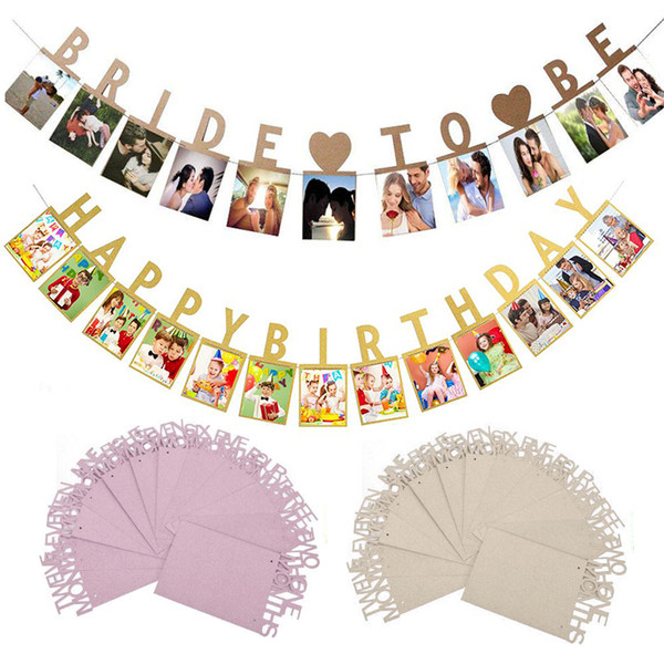 Photo Folder Wall Decoration Birthday Gift Home Decoration 1Set 1-12 Month Kids Photo Banner Monthly Decorations