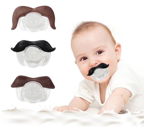 % 100 Güvenli Kalite Bebek Komik emziği Bıyık emziği Bebek Emzik Gentleman BPA Bebek Besleme Ürünleri ücretsiz kargo