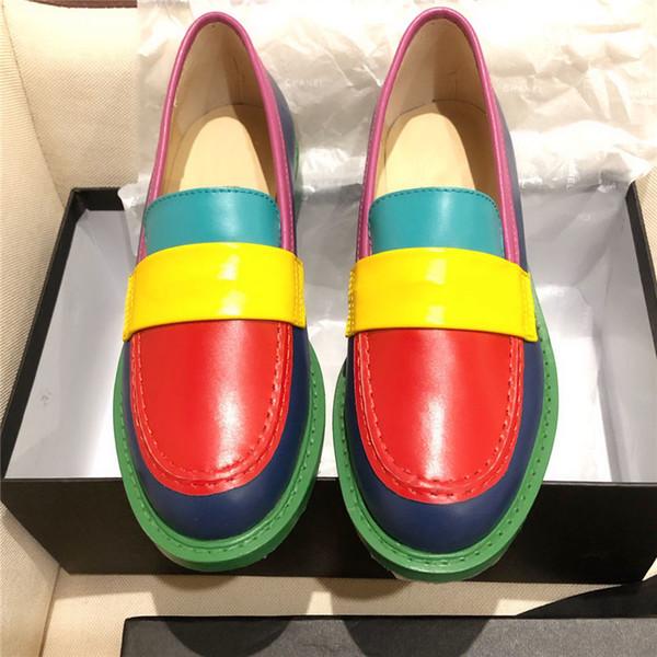 Novo Designer de moda mulheres slip-on sapatos casuais de qualidade superior de couro genuíno senhora verão sapatos multicolor marca designer sapatos tamanho 35-40