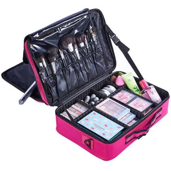 2019 New Brand Makeup Box Artist Professional Beauty Cosmetic Cases Makeup Bag Tattoo Nail Multilayer Toolbox Storage Bag