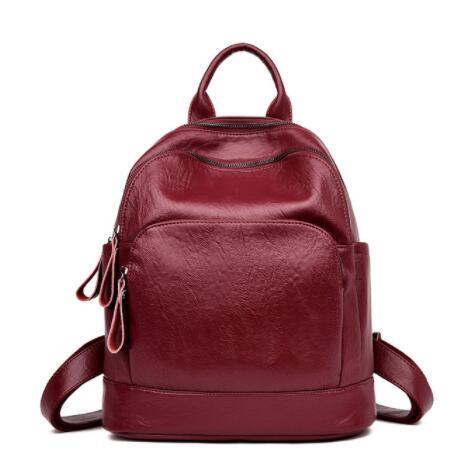 Mochilas de moda para meninas adolescentes das Mulheres PU Leather Backpack Hot Sale Escola Bag Casual Vintage grande Capacidade de viagem Mochila