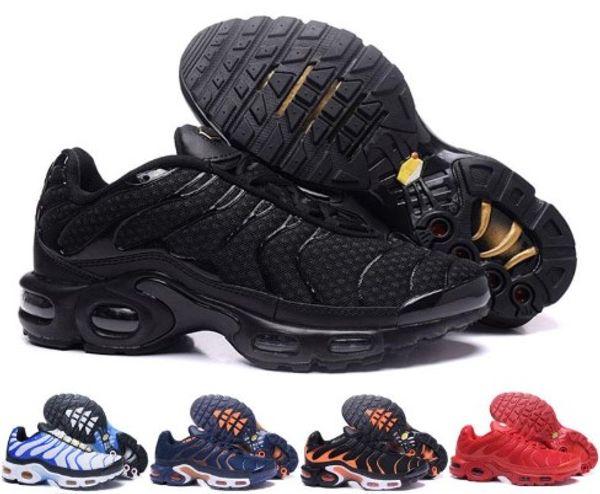 Großhandel Nike Air Max Vapormax Tn Hohe Qualität! TN Plus Laufschuhe Klassische Outdoor Laufschuhe Tn Schwarz Weiß Sport Shock Sneakers Herren Requin