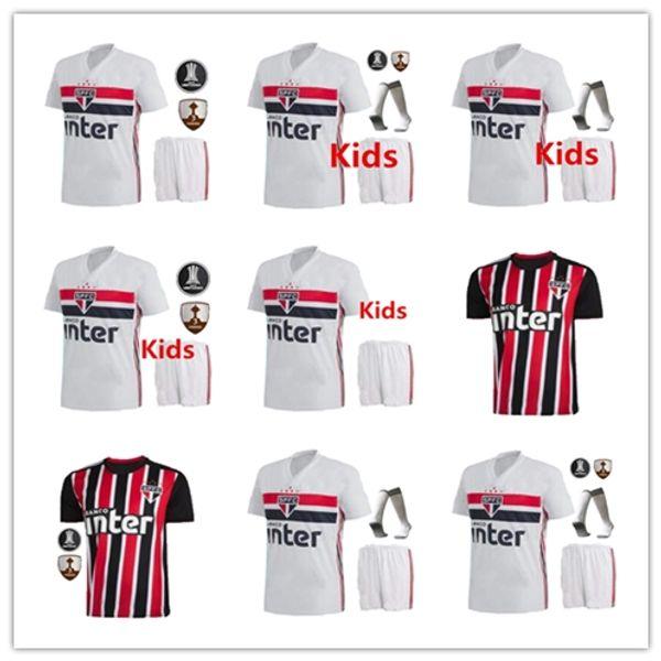 NENE 19 20 Sao Paulo Jersey black away red Soccer TOP 2019 ARBOLEDA REINALDO Brazil Club Home white Kids football shirt DIEGO SOUZA