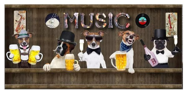 Custom 3d photo murals wall paper home decor Retro vintage fashion animal music bar background wall papel de parede