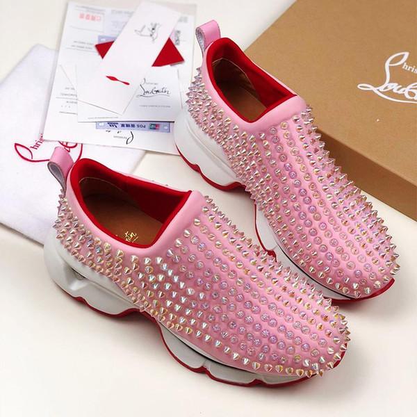 2020'lerde Yeni Erkekler Günlük Ayakkabılar koşu ayakkabıları Alt Çivili Kadınlar Sneaker Graffiti Space Red Moda Kadınlar Pembe Dikenler eğitim ayakkabıları Geldi