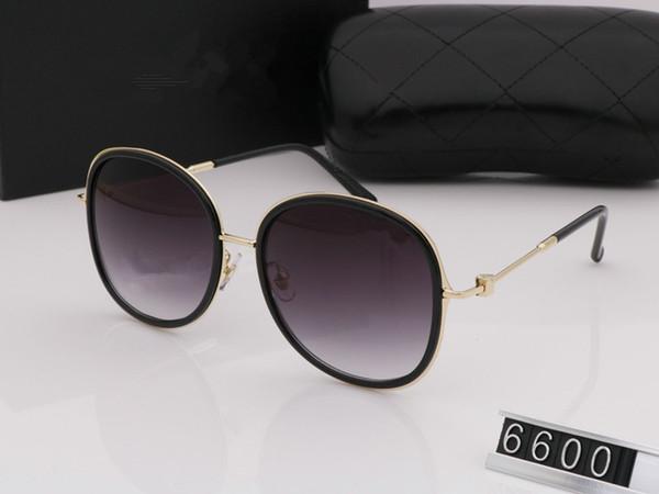 6600 nouvelle luxe logo lunettes de soleil pour femmes hommes attitude lunettes de soleil or cadre carré cadre en métal style vintage design en plein air modèle classique