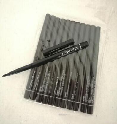 Neues heißes Los des Verkaufs 12pcs FREIES VERSCHIFFEN-Markenverfassungs-einziehbares schwarzes Eyeliner-Feder-Bleistift-Eyeliner Neues heißestes Eyeliner 2019