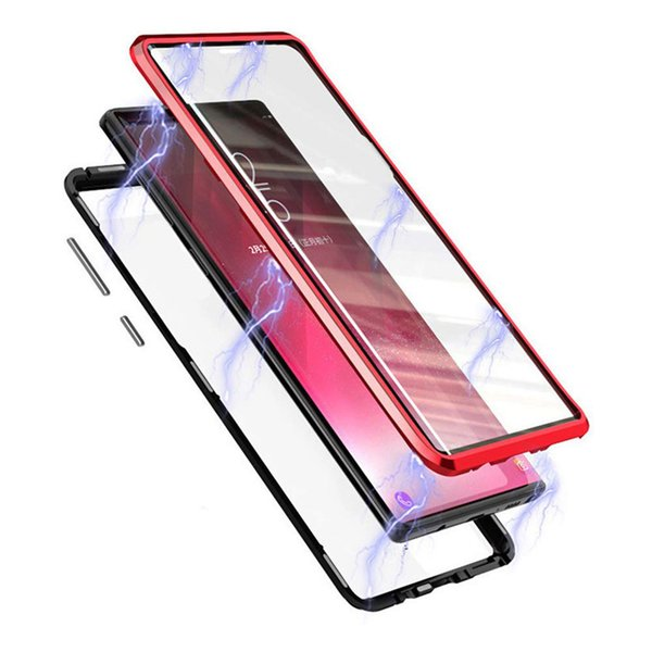Magnetic Dual Sided Tempered Glass Phone Case for Samsung Galaxy S9 Plus S8 Note 9 Case