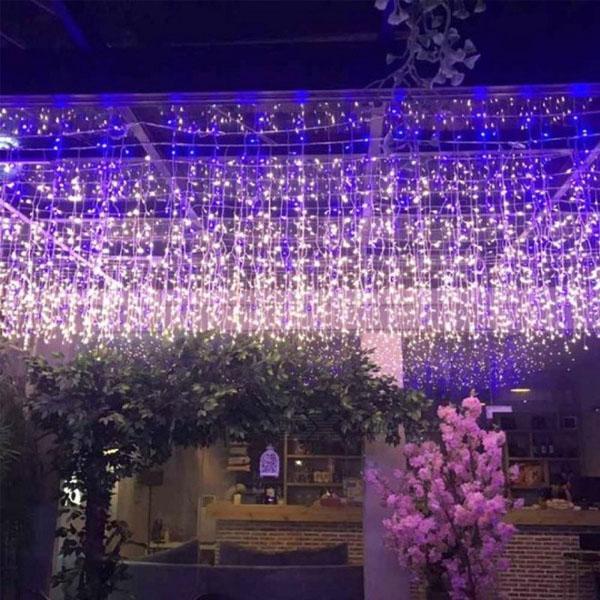 3 х 3 м светодиодные фонари из светодиодов занавес фея строка свет фея свет 300 светодиодный свет рождества для свадьбы дома украшения партии сада