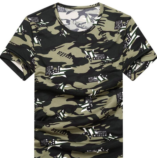 Бесплатная доставка новой европейской и американской моды камуфляж мужской футболки мужской весной и летом новая молодежная футболка с короткими рукавами