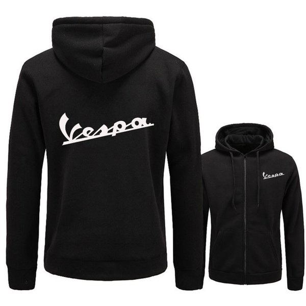 Vespa Mens Casual Hoodies Spring Autumn Cardigan Hooded Zipper Designer Sweatshirts Pullovers