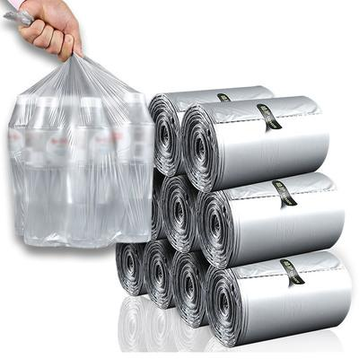 New 110pcs Thicken Disposable Garbage Trash Cans 45*45cm Portable Garbage Bags Large Size Disposable Plastic Storage Bag
