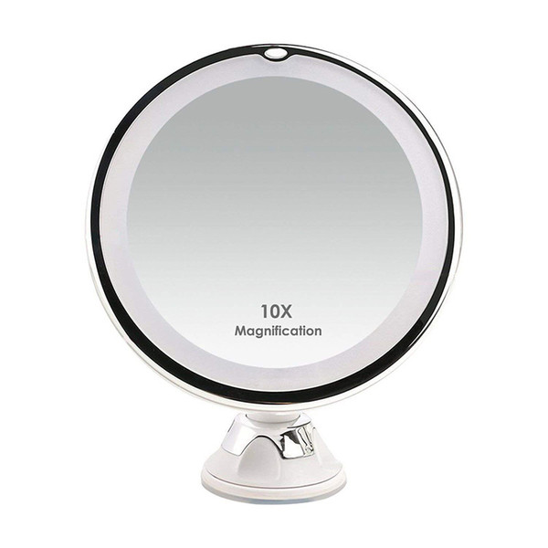10x Magnifying Makeup Mirror.Led Lights 10x Magnifying Vanity Mirror Wall Mounted With Suction Cup Makeup Mirrors Fashion Make Up Tools Illuminated Makeup Mirror Lighted