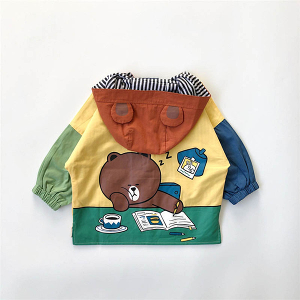 Cartoon Kinder Mantel Kinder Trenchcoats Kinder Designer Kleidung Mädchen Mäntel Kinder Outwear Jungen Mäntel Jungen Kleidung Mädchen Kleidung A7981