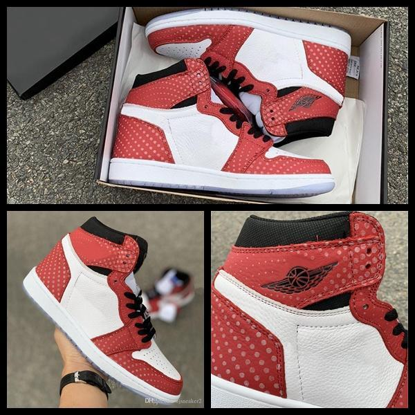 Origin Story 1 Mens Basketball Shoes 1s High OG Chicago Red Crystal Spider Sports Sneakers designer Trainers Baskets hommes chaussures