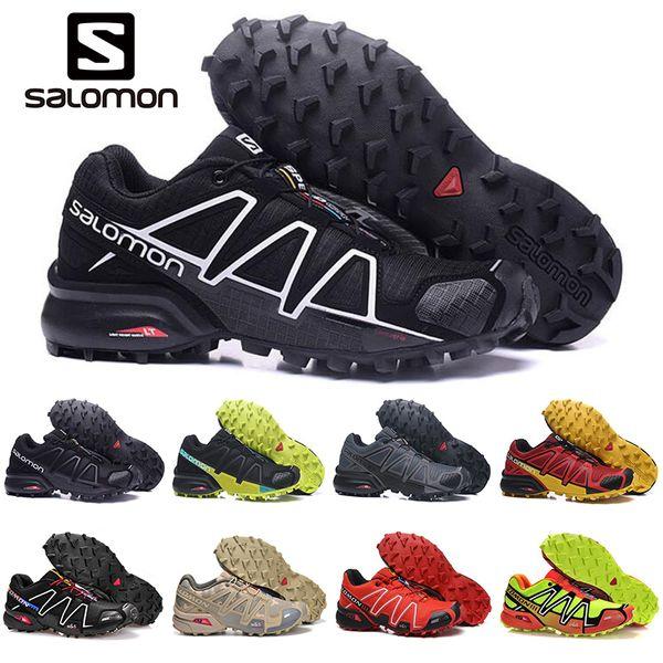 2019 Salomon Speedcross 3 s 4 s CS Erkekler Koşu Ayakkabıları Hız çapraz açık erkek eğitmenler Atletik Su Geçirmez spor Sneakers koşu yürüyüş