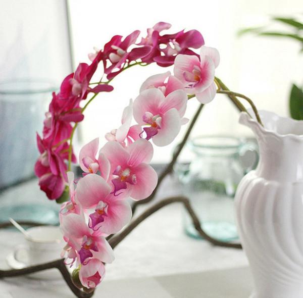 Fleurs Artificielles Soie Phalaenopsis Fleur Fake Papillon Orchidée Décoratif Fleurs Hôtel Bouquet De Mariage Décorations pour La Maison 8 Couleurs YW3566