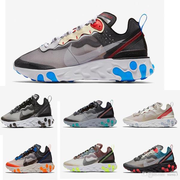 UNDERCOVER x Yaklaşan Tepki x 87 Paket Beyaz Sneakers Marka Erkek Kadın Eğitmen Erkek Kadın Tasarımcı Koşu Ayakkabıları