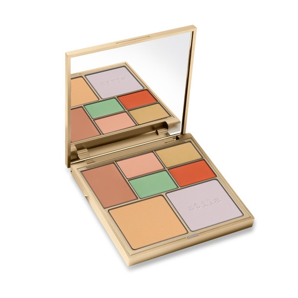 Huda Face Makeup Correct & Perfect All-In-One Color Correcting Beauty Pressed Powder Blender Concealer Palette 12.9g Stila Cosmetics