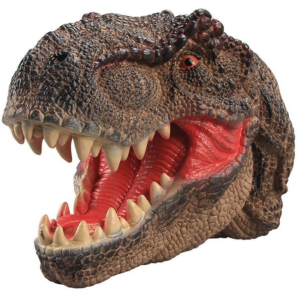 Nuevo Cabeza de mano Títere Figura Títeres Juguetes de mordaza regalo bebé niños juguete Navidad Dinosaurio juegos para niños Suave Goma vida real Animales