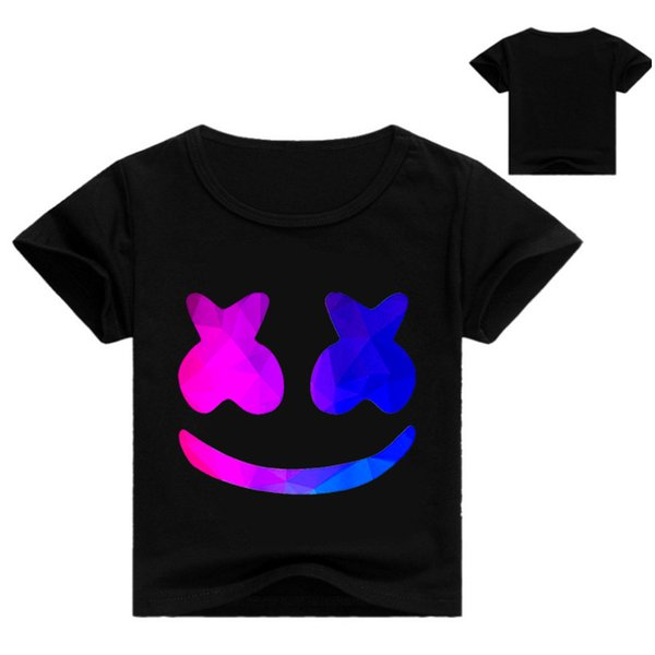 Marshmello Dj Music Print Kids T-shirt for Boy 2019 Children T-shirts Top Casual Short Sleeve T Shirt Fornite Fortnight Shirt