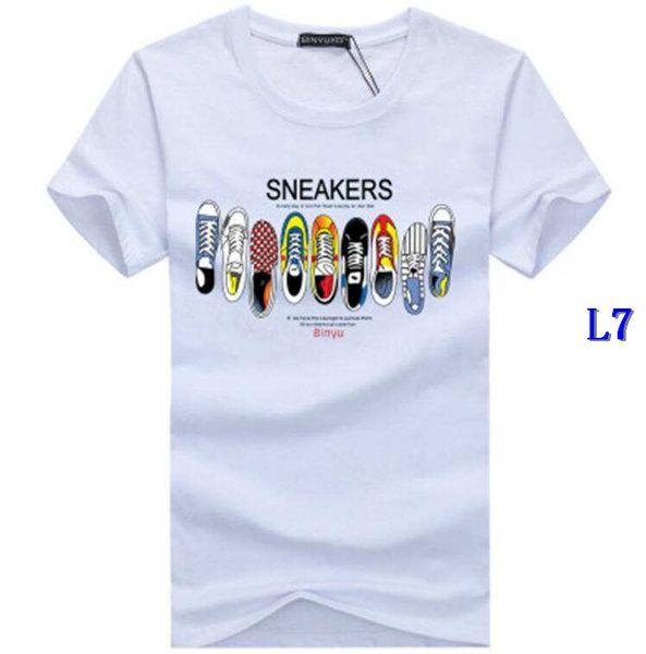 Été Designer T-shirt des hommes T-shirts Top qualité New Mode Chaussures Hommes T-shirt imprimé marée T-shirts Hauts hommes T-shirt multiple ColorG