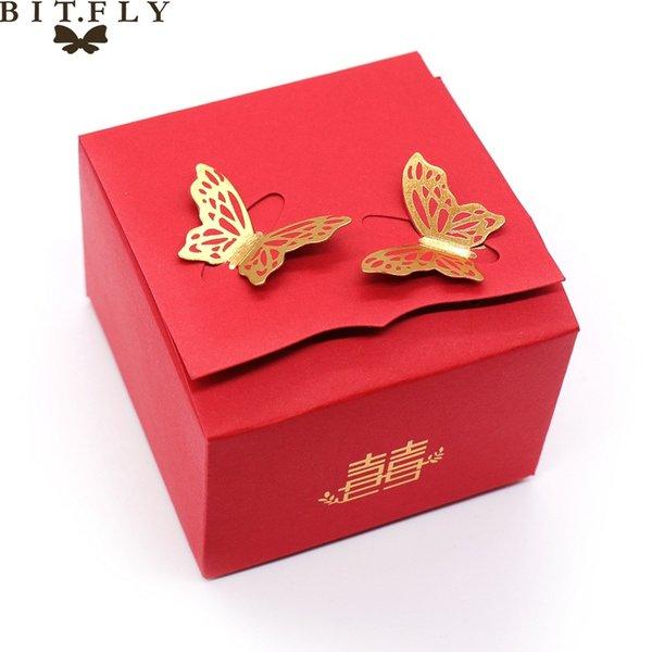 красный подарочной коробке