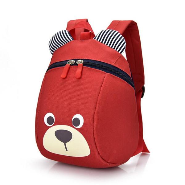 Toddler Schoolbag Kid Children Boy Girl Cartoon Bear Animal Backpack School Bag