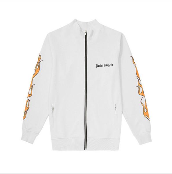 Street Designer Designer Jacket Uomo Marca Sportswear Fiamma Stampa Cappotto Casual Lusso Cerniera Lettere antivento Lettere Autunno Abbigliamento Fiamma Stampato 06