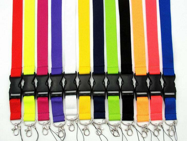 top popular Free shipping, Cell phone lanyard Straps Clothing Sports brand for Keys Chain ID cards Holder Detachable Buckle Lanyards 100pcs 2021