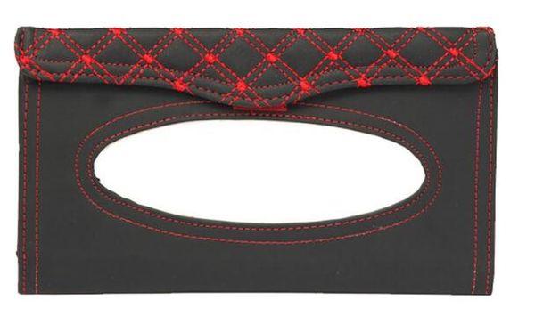 Car Auto PU Clip Sun Visor Tissue Box Paper Case Cover Napkin Holder Universal