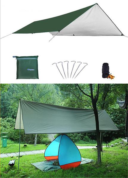 Colchoneta impermeable para acampar 3 * 4M Colchoneta para exteriores Tienda de tela Múltiples funciones Toldo Lonas Canopy Picnic Estera para el suelo dc558