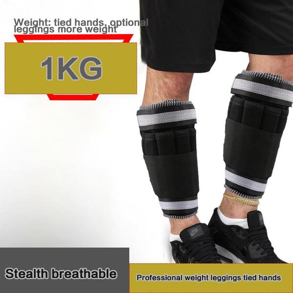 Al por mayor: 1 kg / par de tobillo / muñeca para mujeres, hombres y niños: peso totalmente ajustable para la pierna del brazo: lo mejor para caminar, trotar