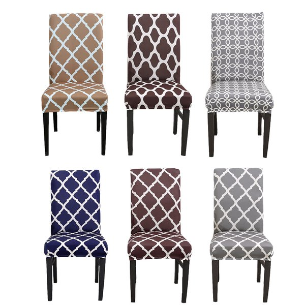 Geometric Universal Kitchen Chair Cover Spandex Stretch Polyester Dining  Room Chair Seat Cover Protector Seat Case Coprisedie Rent Chair Covers ...