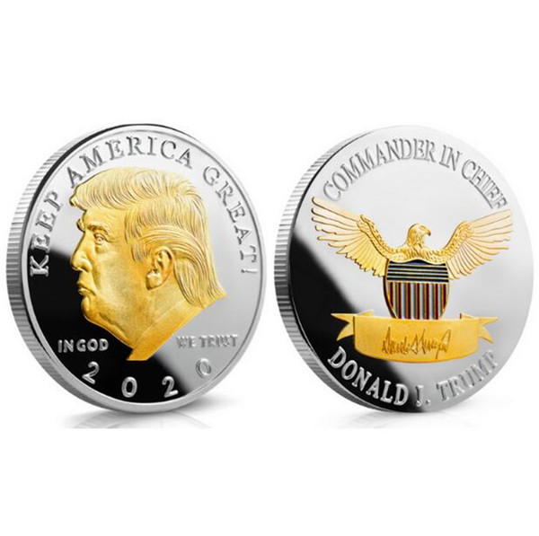 best selling Craft Commemorative Coins Trump Coin 2020 American 45th President Donald Gold Silver Metal Badge Token Collection
