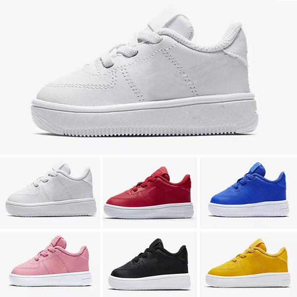 Nike air max force fly 2018 NOUVEAUX enfants de la mode haut de gamme chaussures de course blanches de haut en skateboard chaussures hommes femmes noires amour unisexe 1