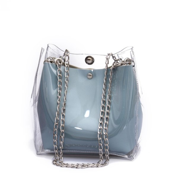 Women Small Flaps Shoulder Bags Plastic Transparent Cute Summer Cossbady Bags For Woman Composite Female Mini Jelly Handbags